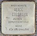 Stolperstein für Alice Cossmann (Köln).jpg