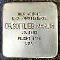 Stolperstein für Dr. Gottlieb Marum (Köln).jpg