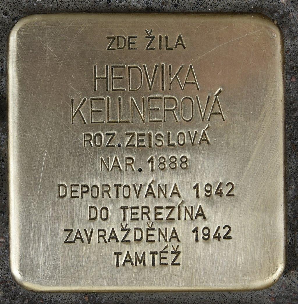 Stolperstein für Hedvika Kellnerova.JPG