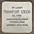 Stolperstein für Izidor Frankfurt (Szeged).jpg