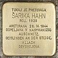 Stolperstein für Sarika Hahn (Murska Sobota).jpg