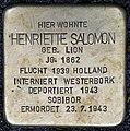 Stolpersteine Köln, Henriette Salomon (Brüsseler Straße 88).jpg