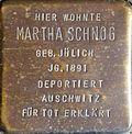 Stumbling stone for Martha Schnog (Krummer Büchel 18)