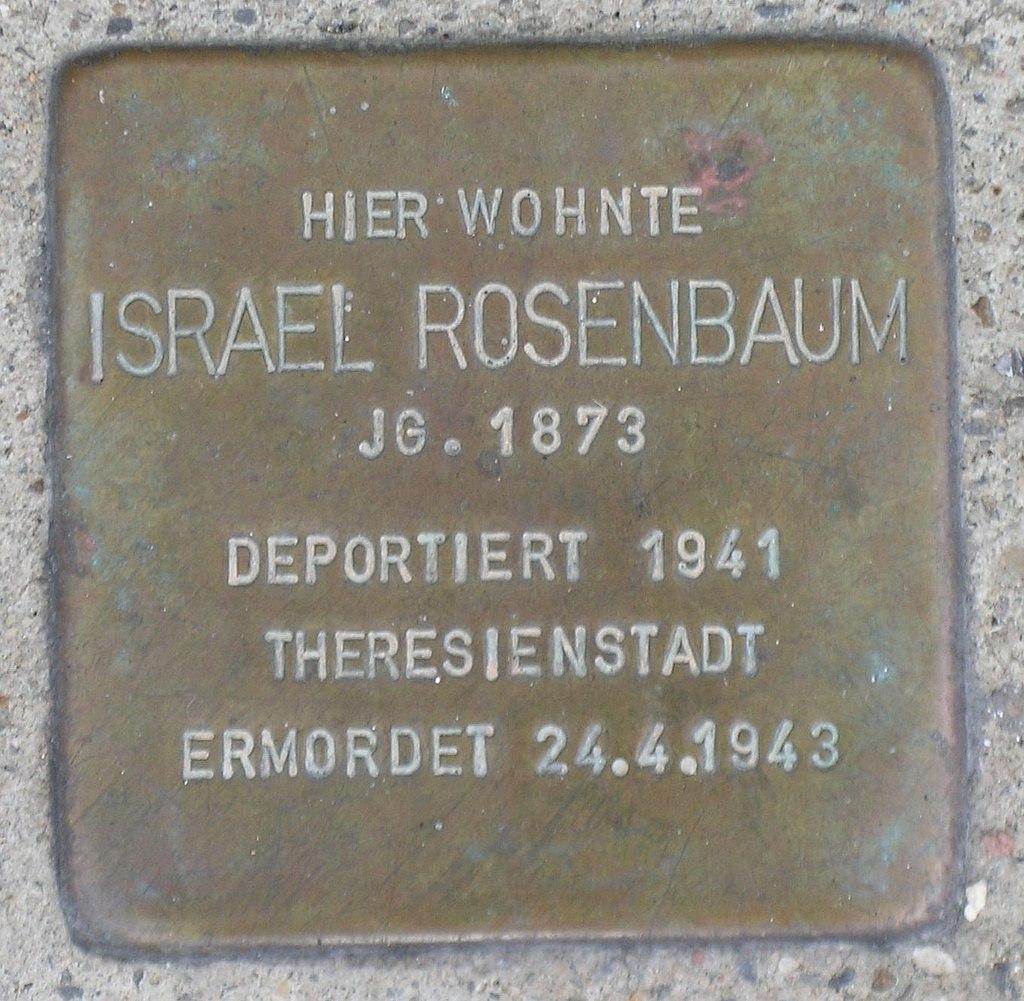 Stolperstein für Israel Rosenbaum (Kirchplatz 7)