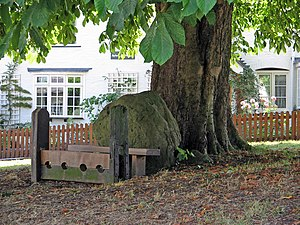 Grimston, Leicestershire - Stone and stocks on the village green