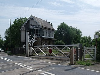 A1500 road - Stow Park level crossing