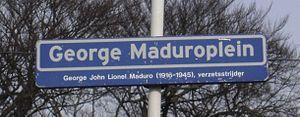 George Maduro - George Maduroplein street sign in Scheveningen