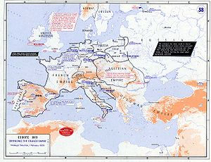 War of the Fifth Coalition - European strategic situation in February 1809.