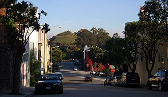 Corona Heights Park - Image: Street view of Corona Heights Park