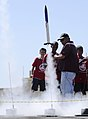 Students from Pearl Harbor Kai Elementary celebrate their graduation from the Starbase Atlantis program with a rocket launching at Ford Island, 110208-N-WP746-127 (5434167638).jpg