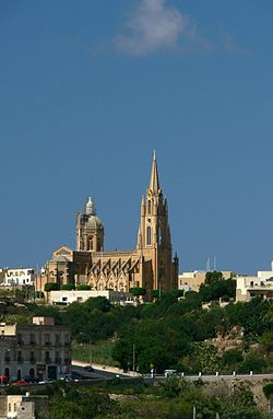 The parish church of Għajnsielem
