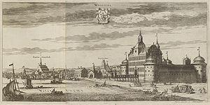 Vadstena - Vadstena in Suecia antiqua et hodierna, c 1700