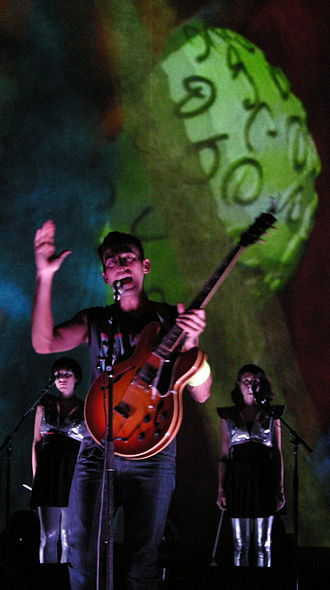 Sufjan Stevens - Stevens' stage shows feature elaborate lighting, costumes, and choreography.