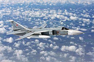 Sukhoi Su-24 - Su-24M in flight, 2009
