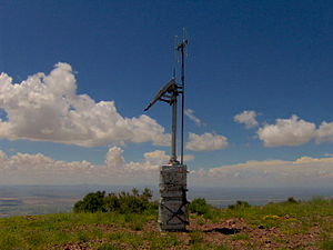 North Franklin Mountain - A ham radio repeater crowns the summit of North Franklin Mountain