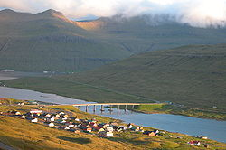 The Sundini sound at Norðskáli, Faroe Islands