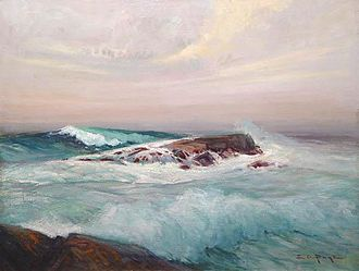 Ogunquit, Maine - Surf at Ogunquit, Maine by Edward A. Page (c. 1911)