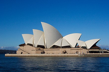 October 20: Sydney Opera House is opened by Elizabeth II Sydney Opera House Sails.jpg
