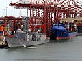 TCG Gemlik (F-492) docked at the port in Colombo..jpg