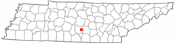 Location of Wartrace, Tennessee