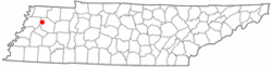 Location of Yorkville, Tennessee
