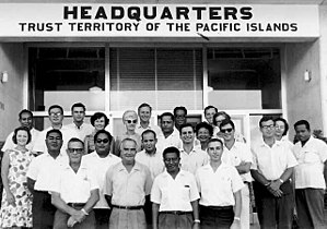 Palau - TTPI High Commissioner and staff, 1960s