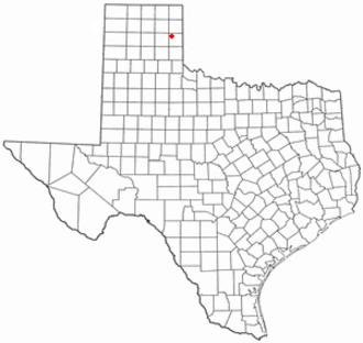 Mobeetie, Texas - Image: TX Map doton Mobeetie
