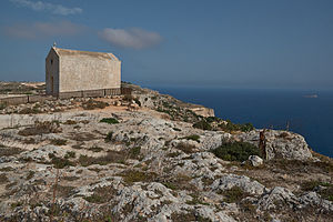 St. Mary Magdalene Chapel, Dingli - The chapel overlooking the Dingli Cliffs