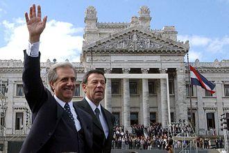 Tabaré Vázquez - President Tabaré Vázquez with Vice President Rodolfo Nin Novoa