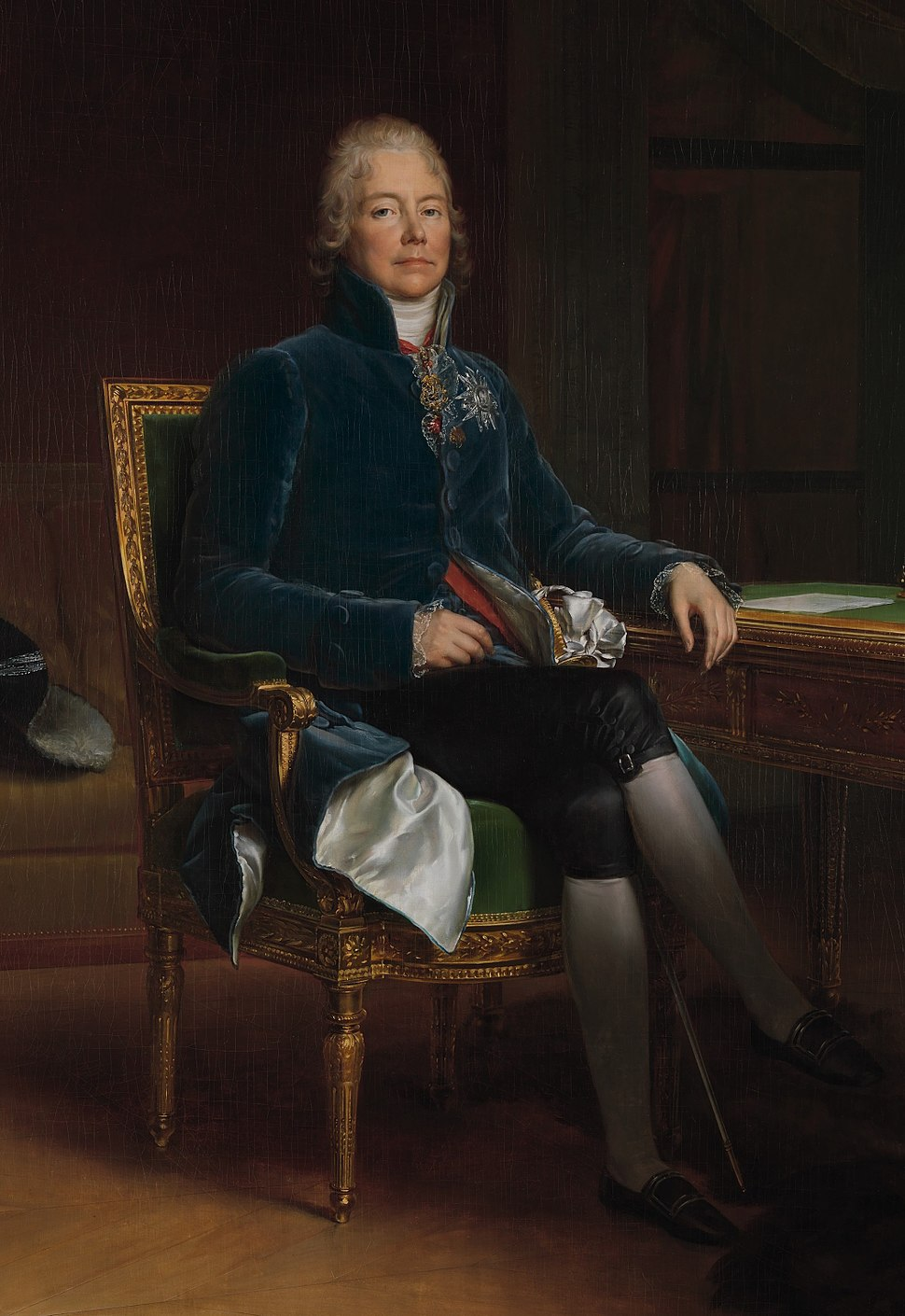 oil painting of Tallyrand, the French ambassador