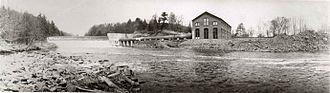 Hartford Electric Light Company - Tariffville Dam and hydroelectric station