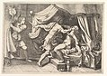 Tarquin attacking Lucretia, a servant at left witnessing the scene MET DP821259.jpg
