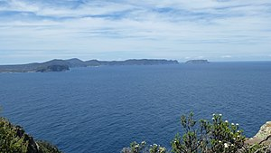 Cape Raoul - Image: Tasman Island and Tasman Peninsula from Cape Raoul