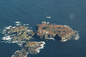 Tatoosh Island, Washington - The island from the air.