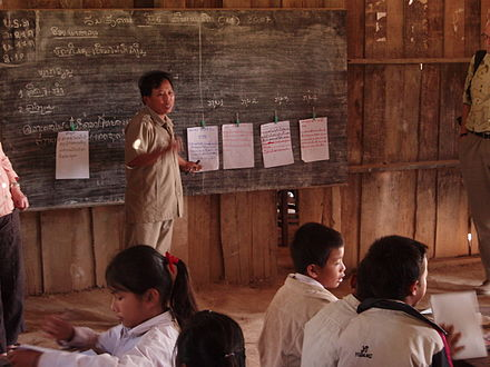 A primary school teacher in northern Laos Teacher in Laos.jpg