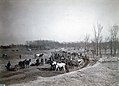 Teams of horses pull excavators and loaders during construction of an excavation channel for the River des Peres in Forest Park in preparation for the 1904 World's Fair.jpg