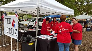 Ted Cruz presidential campaign, 2016 - Ted Cruz supporters in Naples, Florida, January 2016