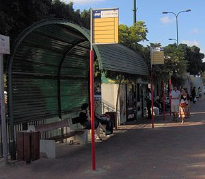 Tel Aviv 2000 Terminal - Bus stops at the 2000 terminal