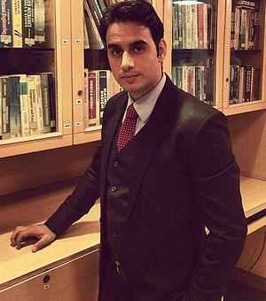 Wasim Mushtaq - Wasim On sets of Amrit Manthan