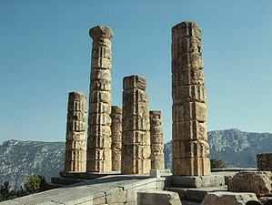 Spintharus of Corinth - Ruins of the Temple of Apollo at Delphi