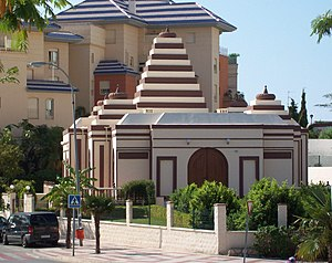 Hinduism in Spain - A Hindu temple in Benalmádena, in Malaga province of Spain. It opened in 2001.