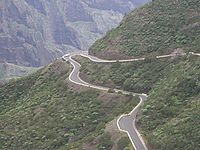Droga w okolicy Las Portelas