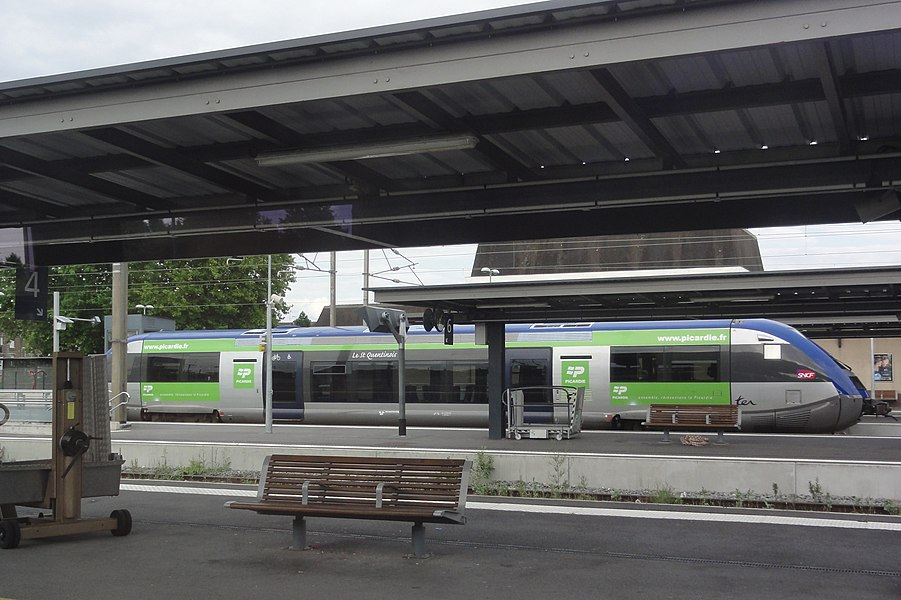 Tergnier (Aisne) gare SNCF, train Le St Quentinois