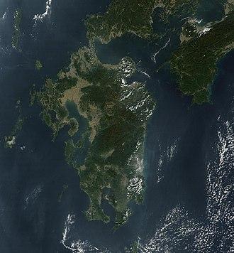 Kyushu - Satellite picture of Kyushu