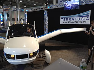 Terrafugia -- 2012 NYIAS -- front view, wing fold starting.jpg