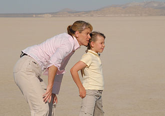 Bindi Irwin - Photos showing Irwin and her mother Terri at Edwards AFB to film a segment for Bindi the Jungle Girl in 2007