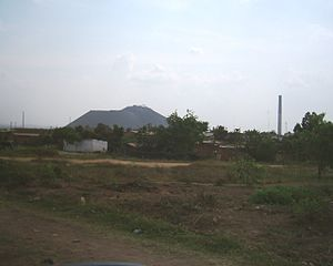 Mining industry of the Democratic Republic of the Congo - Mine tailings at a Lubumbashi copper mine.