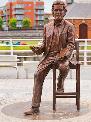 Terry Wogan - Memorial statue in Limerick, Ireland