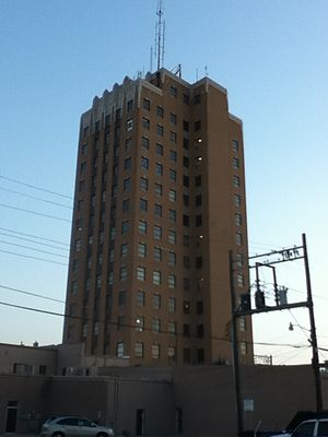 "Enid, Oklahoma - The Broadway Tower, Enid's tallest building, was built during the city's ""Golden Age""."