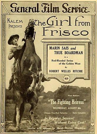 Marin Sais - The Girl from Frisco (1916)
